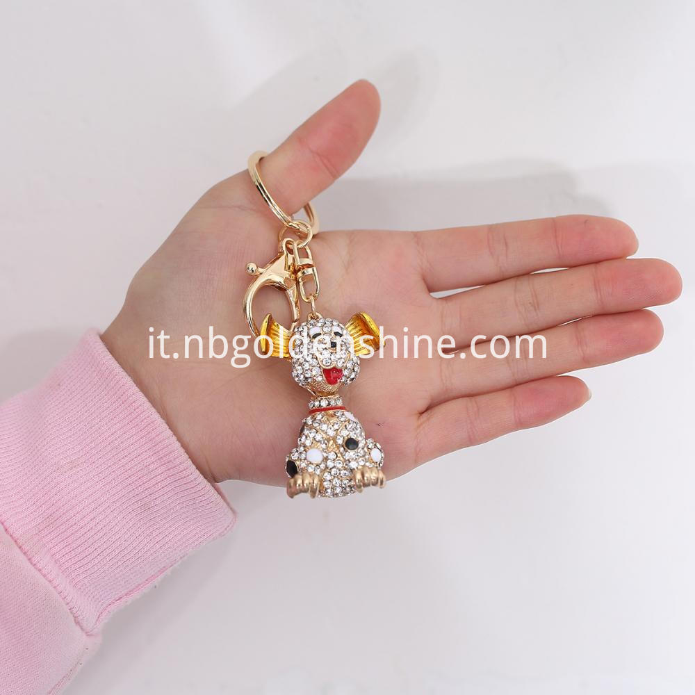 Promotion Diamond Dog 3d Key Chain