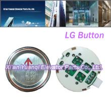 Botones LG Elevador Piezas de repuesto Braille Acero inoxidable Forma redonda Push Button