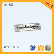 MC557 Square logo tag custom clothing labels