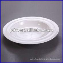 P & T Porzellan Fabrik, weiße Suppe Platten, mordern Linie Platten