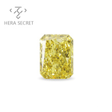 ForeverFlame fancy yellow Radiant Cut diamond CVD CZ Moissanite