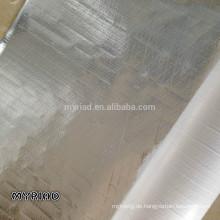 Metallisierte Polyesterfolie / reflektierende Mylar, reflektierende und silberne Dachmaterialien Aluminiumfolie konfrontiert