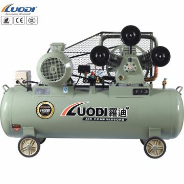 Compresor de aire de pistón accionado por correa de gran potencia.