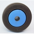 2'' coffee color TPR fixed caster wheels