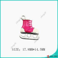Sapato De Patins De Gelo Pingente De Colar De Metal (SPE)