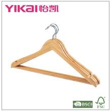 Perchas de bambú con barra redonda y muescas en U