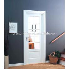 Weiß grundierte 10 Lite-zusammengesetzte Innenholz-Glas-französische Türen