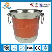 Venda quente colorido aço inoxidável cinza ganso balde de gelo