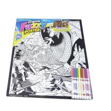 Peeps d'affiche floue, papiers bricolage de peinture à la main, puzzles de peinture