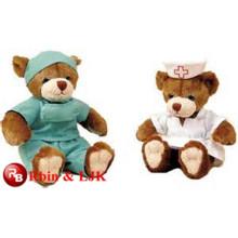 Cumple con EN71 y ASTM estándar ICTI peluche de fábrica de juguetes al por mayor médico de oso de peluche oso de juguete