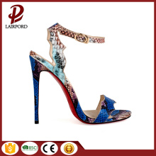 New fashionable serpentine colourful sexy ladies sandals