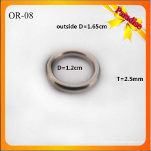 OR08 Custom Shiny O Ring Fashion Bag Metal O Buckle 1.2cm for underwear ring
