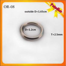 OR08 Пользовательские блестящие O кольцо моды мешок металла O пряжкой 1.2cm для нижнего белья кольцо