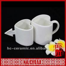 Tasse en forme de coeur en porcelaine, tasse de café en forme de coeur