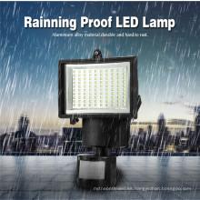 luz led del sensor de movimiento 60 led luz led del sensor de movimiento solar de la luz del sensor led solar