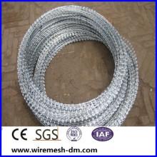 hot-dipped concertina razor barbed wire , razor wire fencing ,BTO-22 razor barbed wire
