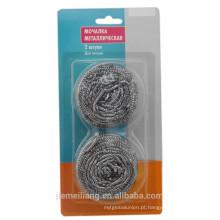 Novo Item no mercado esponja de aço inoxidável esfrega limpeza bola esponja rótulo