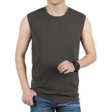 Camiseta al por mayor de encargo del hombre en blanco