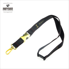 PU Leather Lanyard with Gold Hook and Buckle