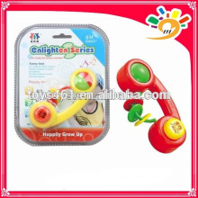 Newest Baby Enlighten Series Rattle Bell Toy,Cute Cartoon Telephone Design Rattle Bell