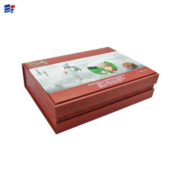 Red classical book shape paper tea box
