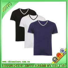 2016 OEM Kurzarm Casual V-Ausschnitt T-Shirts