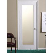 Puerta de coctelera de vidrio interior, puerta de madera blanca