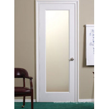 Interior Glass Shaker Door, White Wooden Door