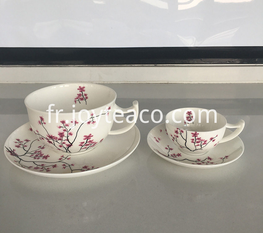 tea cup tray set