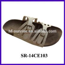 New arrival-Ladies confortable 2 buckles upper cork sole slipper girl fashion cork slipper