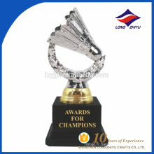 Custom metal badminton fantasy souvenir trophy design