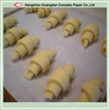 Doublure faite sur commande de casserole de four de cuisson de papier de silicone antiadhésive