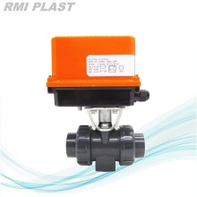 PPH Ball Valve Electric Actuated 220V AC