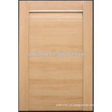 Puerta de armario de cocina de vinilo de grano de madera de PVC MDF