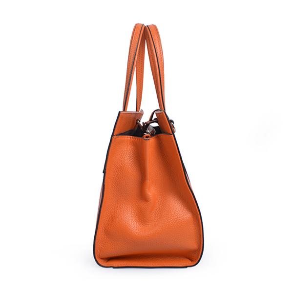 Latest Designer Lady travel bag leather black color tote bag hand bag