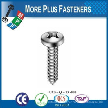 Made in Taiwan ISO 7049 Tapping Screws Pan Head with Cross Recess H Phillips