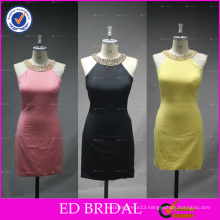 ED Bridal Real Sample Picture Beaded Halter Sheath Short Bandage Dress