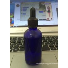 Série de alta qualidade cobalto frasco conta-gotas de vidro