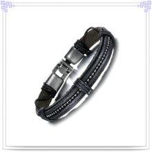 Jóias de couro pulseira de couro de jóias de moda (lb379)