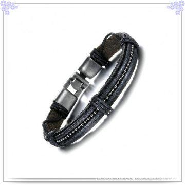 Joyería de cuero joyas de moda de cuero pulsera (lb379)