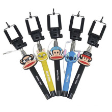 Hot Sell Cartoon Wired Selfie Stick Monopod for Camera/Smartphone