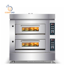 Golden Chef Bread Equipment 380V 1.8kW 2 Deck 6 Trays Luxury Baking Oven Machine Commercial Bakery Oven Prices
