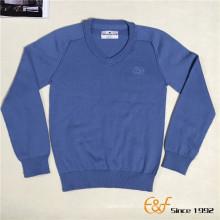 100%Мерсеризованная шерсть моющиеся V-образным вырезом за шитье реглан свитер для подростка