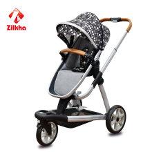 Детская коляска с рамой и горячего прессования сиденья