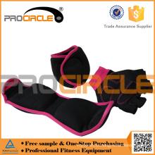 Luvas de halterofilismo com suporte de Wrist Wrap para ginásio, treinamento de fitness