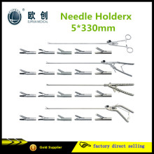 Reusable Laparoscopic Stainless Needle Holder Forceps