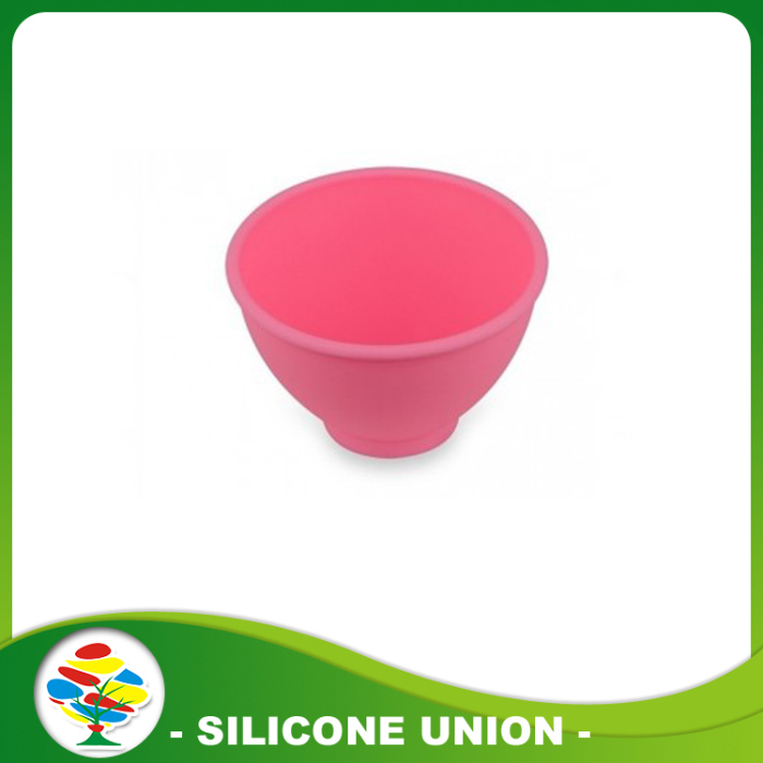 pink silicone baby bowl