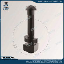 AREMA Gr5 track bolt with heavy square nut