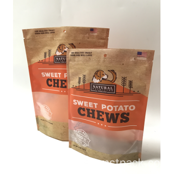 Plástico Stand Up Matt Coating Chips Packaging Bag