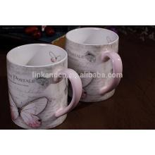 Taza de cerámica redonda de productos comercializables con mango